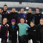 Top row from left, DeeDee Leng, Ernie Stevens, Serguei Zaitsev, Elena Zaitsev, Angie Dusak, Joe Goodpaster and Tabatha McNulty; bottom row from left, Christina Zaitsev, Dana Mitchell, Stephanie Rise, John Goodpaster and Caroline Kerr skate for the Indiana World Skating Academy. (Staff photo)