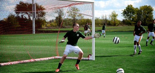 U17B Gold team's Evan Seitz of Westfield High School plays goalie during a Westfield Select Soccer Club held practice at Grand Parl. Grand Park will be home to the Indiana Fire Juniors, a possible combination of the Westfield Youth Soccer Association travel and academy teams and the Carmel United Soccer Club. The WYSA recreation league will play at Grand Park and Shamrock Springs Elementary School. (Submitted photo)