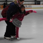 Indiana World Skating Academy trainer Elena Zaitsev and Tiffany Gao (Staff photo)