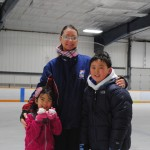 Tiffany Gao, Elena Zaitsev and Sean Gao at the Carmel Ice Skadium. (Staff photo)