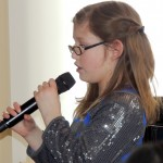 Carmel resident Alissa Firestone is a little girl who sings with a big voice. (Staff photo by Tonya Burton)