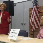 From left, Incumbent Susan Brooks and David Stockdale made a pitch to voters to be the next Republican congressional candidate for Indiana's 5th District. (Staff photo)