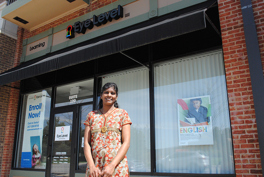 Owner Latha Annamalai runs Eye Level Learning to help students improve their Math and English skills. (Staff photo)