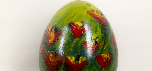 These are examples of the painted Easter eggs than Gallery Walk participants can hunt for.