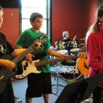 Hunter Cook, 11, guitar; Avery Ebbert, 10, vocals; Luke Edwards, 11, bass; and Harrison Ludwig, 9, drums. (Staff photo by Adam Aasen)