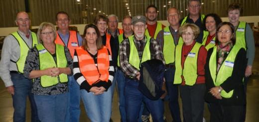 "Volunteers with Gleaner's ""backsack"" program."