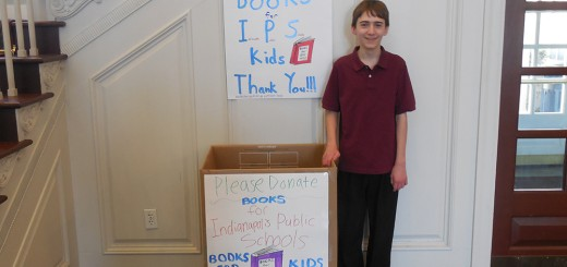 Chris Nardi, 13, is facilitating a book drive for his Eagle Scout project. (Submitted photo)