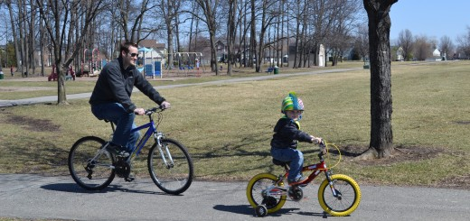 Bicyclists in Holland Park take advantage of a pretty spring day. The Town of Fish- ers' Community Development, Engineering and Dept. of Public Works are working on a Pedestrian and Bicycle Master Plan for Fishers and are seeking input from resi- dents. (Photo by John Cinnamon)