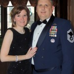 Carmel residents Janine Daggett and husband, Senior Master Sergeant Michael Daggett, enjoy the festivities during the 125th anniversary gala for the Columbia Club. (Staff photo by Tonya Burton)