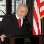 Ed Myers of Indianapolis portrays 23rd president, Benjamin Harrison, during the 125th anniversary gala for the Columbia Club. (Staff photo by Tonya Burton)