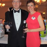 Jim and Tanja Keay of Carmel enjoy an evening of spirits, dinner and auctions. (Staff photo by Tonya Burton)