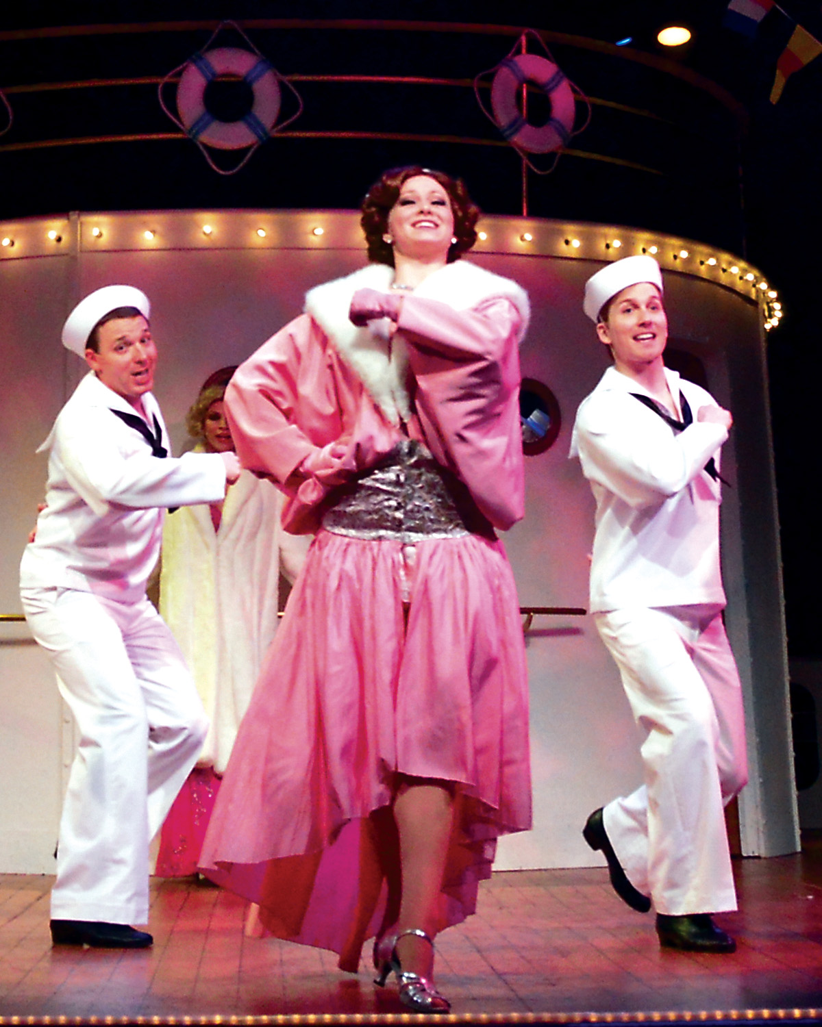 "Carmel High School graduate Kari Baker plays the role of Purity in Beef & Boards' production of ""Anything Goes."" (Submitted photo)"