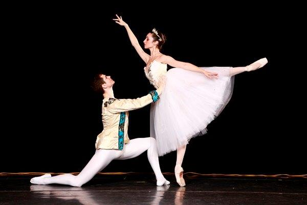 Christian Griggs-Drane and Micaelina Ritschl will perform in the ballet performance of Cinderella at Clowes Hall on April 26. (Submitted photo by Brent Smith)