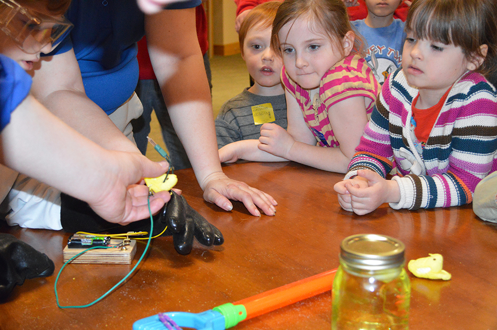 Kids can watch Peeps experiments during the Easter Celebration at Conner Prairie in Fishers. (Submitted photo)
