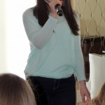 Nicole DiDonna, from Carmel, learns about conversational singing. (Staff photo by Tonya Burton)
