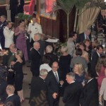 The 125th anniversary gala crowd began the evening with drinks and a seafood buffet. (Staff photo by Tonya Burton)