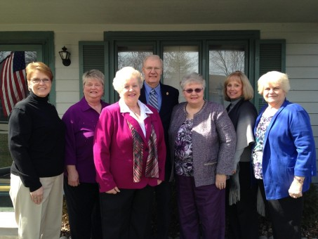 The board of the Carmel High School Alumni Association, from left, Deb May, Trudy Weaver, Cathie Reamer, Ed Wiseman, Natalie Cotton, Johanna Smith and Kathy Venable are disbanding. (Submitted photo)