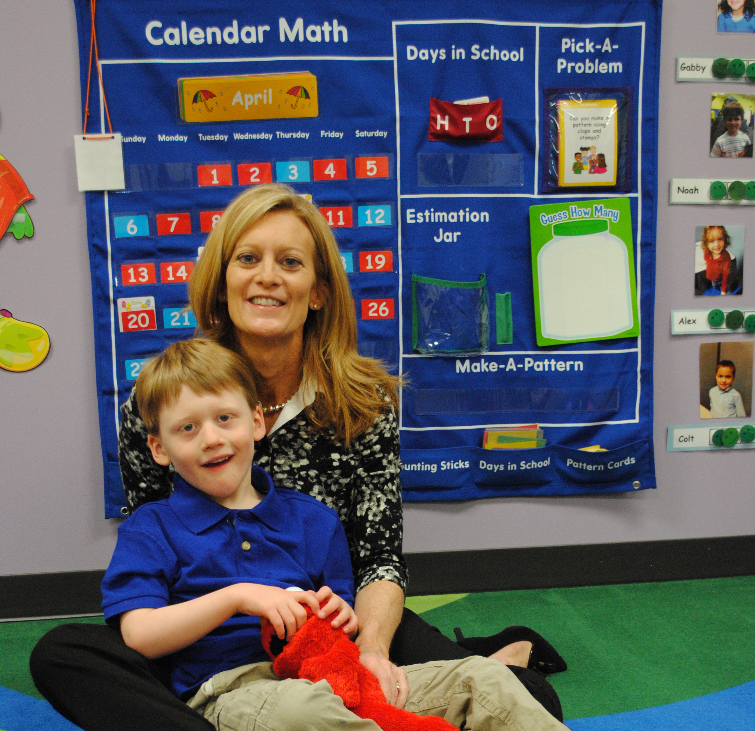 Kathy Rokita takes her son Teddy to school at the Little Star Center in Carmel, where he gets one-on-one therapeutic assistance. (Photo by Adam Aasen)