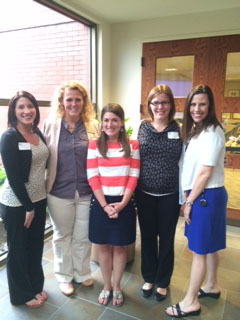 From left, Prairie Trace Elementary School teachers Lauren Doran, Elizabeth Hehner, Lauren Burke, Holly VanTreese and Denise Dragash will be able to teach collaboratively thanks to a grant for webcams given by the Carmel Education Foundation. (Submitted photo)