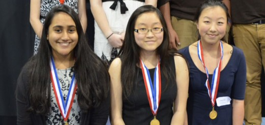 "From left, Carmel High School students Bhavi Sarda, Evelyn Shi and Jenny Zhao won first place  for their documentary ""Success Comes with a Price: Rights and Responsibilities in China's One-Child Policy"" that they submitted to the National History Day in Indiana state contest. (Submitted photo)"