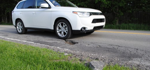 Carmel has so few potholes it can count them, including this one on Main Street east of Gray Road. (Staff photo)