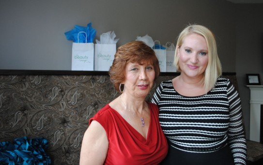 From left, Soori Ardalan, the owner of The Aesthetics Center, and The Beauty Lounge owner Eva Harris plan to join forces at 324 W. Main St. in Carmel. (Staff photo)