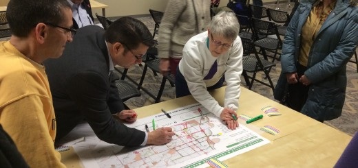 Fishers residents attend public forum to give input into Pedestrian and Bicycle Master Plan. (Submitted photo)