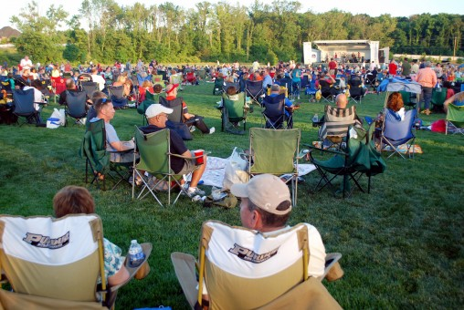 People fill Dillon Park to watch Zanna-Doo perform as part of the 2012 concert series. (File photo by Robert Herrington)