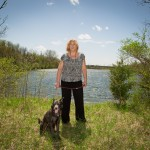 Home Place resident Karen Cheek said she started a Facebook page to voice her opposition to the pro- posed development of the lakefront property just west of the Monon Trail in south Carmel. (Staff photo by Sara Crawford)