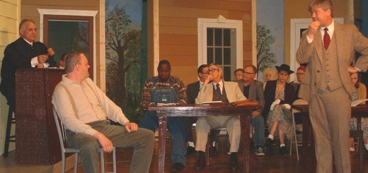 """The actors of the Belfry Theatre recreate a courtroom scene from """"To Kill a Mockingbird."""" (Submit- ted photo)"""