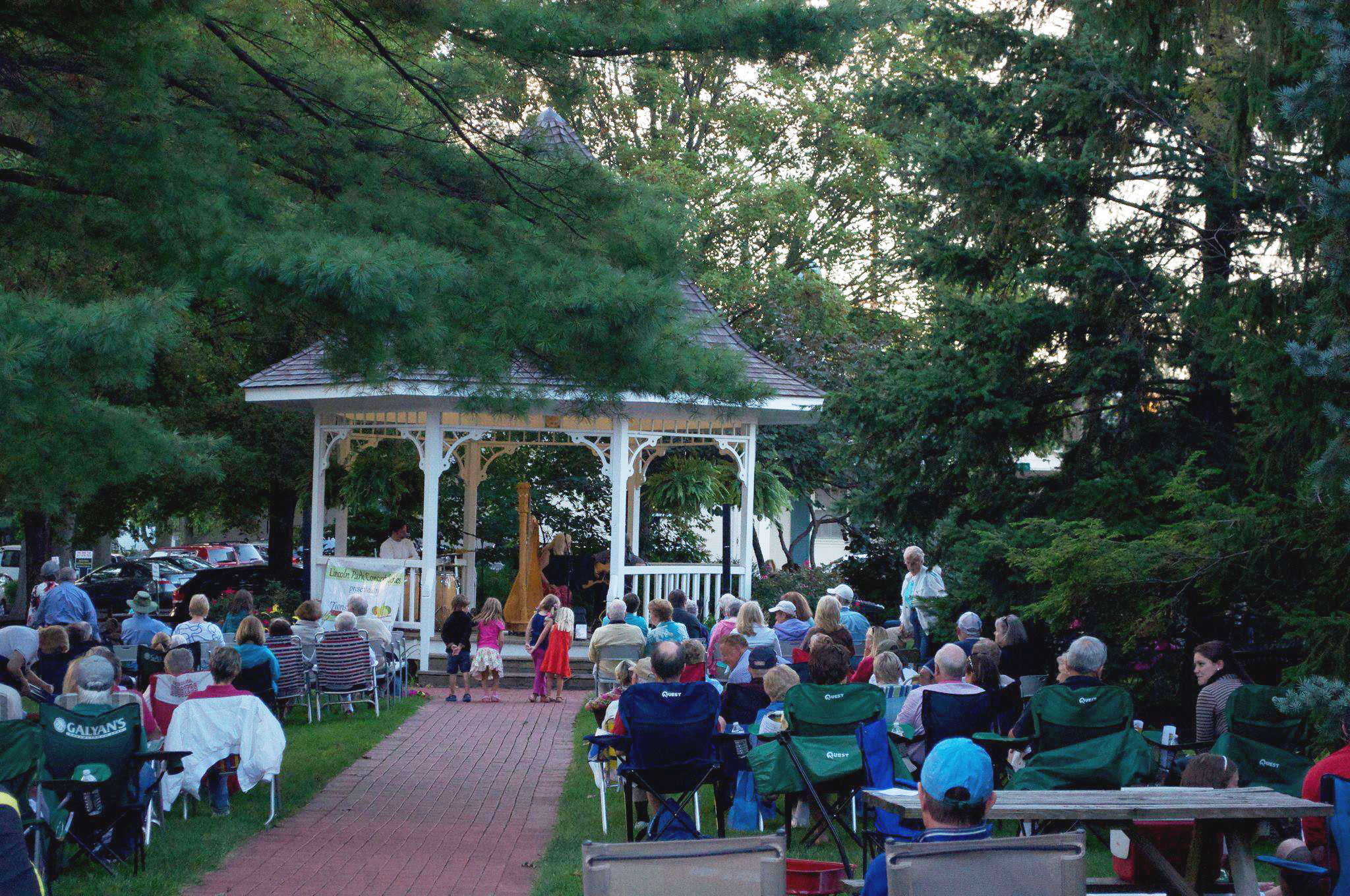 It's a good idea to bring some lawn chairs for Zionsville's summer concerts held at Lincoln Park. (Submitted photo)