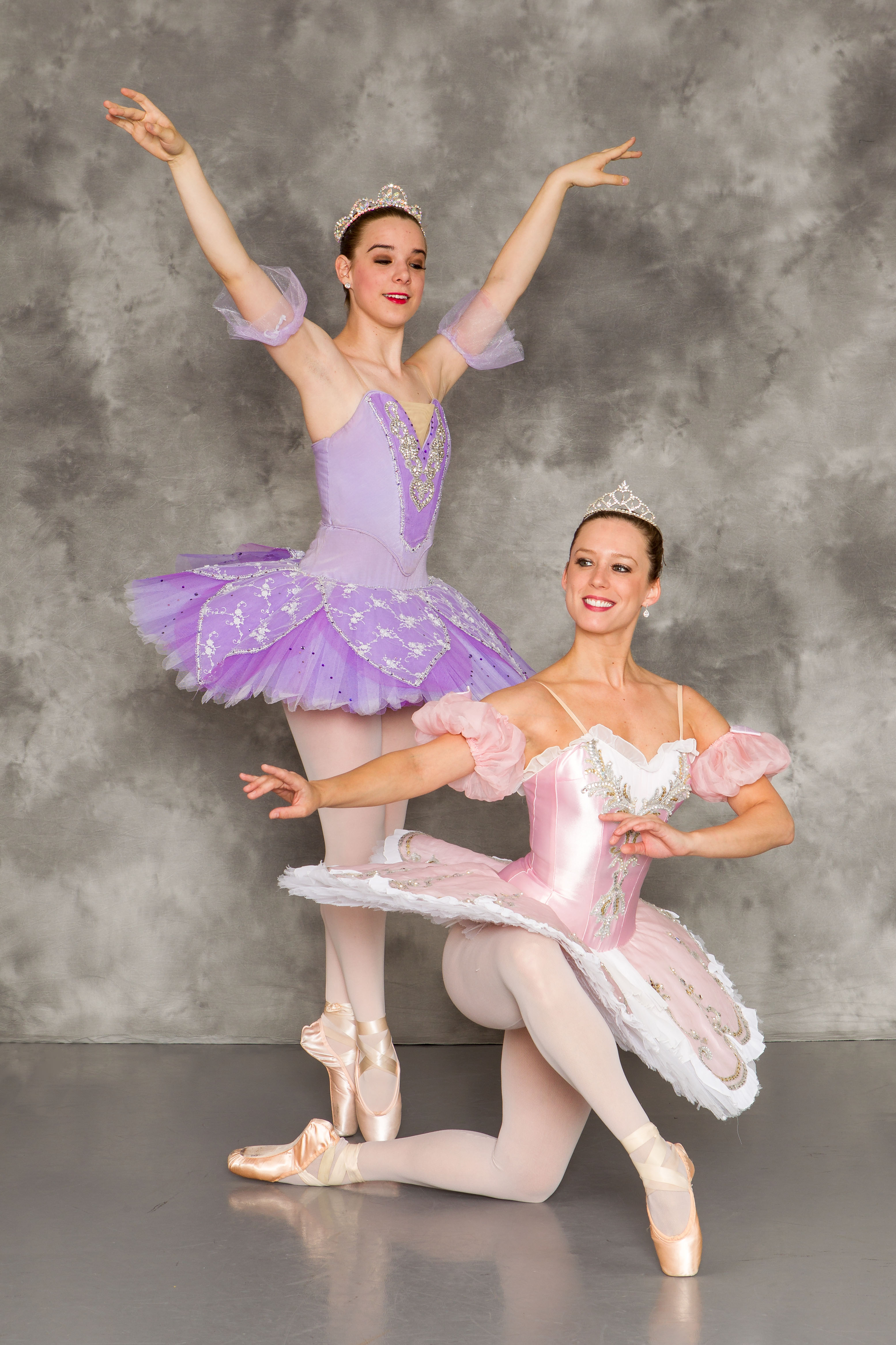 "Princess Aurora will be played by dancer Erika Cole, left, and Nicole Retzlaff will play a lilac fairy in the Central Indiana Dance Ensemble's presentation of ""The Sleeping Beauty."" (Submitted photo)"