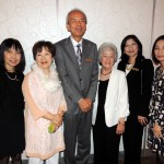 From left, Masumi Makaio of Carmel, Harumi Goto of Kawachinagano, Japan; Aki Yamamoto of Kawachinagano, Kay Myers, a guest host from Carmel, Lilia Shiba of Kawachinagano and Kay Yokoto of Carmel were all members of the Sister Cities organization. (Staff photo by Tonya Burton)