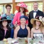 "Top row from left, Michelle Mosgrove, Event Chair Jody DeFord and James Anthony; and bottom row from left, Jessica Cox, Kristen Lade and Carmel resident Yolanda Taylor enjoy the ""Hats Off"" IMA luncheon on May 8. (Staff photo by Tonya Burton)"