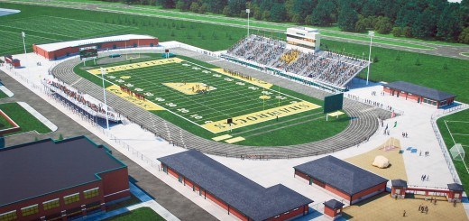 "Renderings of community stadium and proposed ""The Junction"" project"