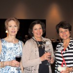 From left, Dorothea Genetos, Theresa Goble and Anne King supported the Methodist Hospital Task Core fundraising event at Lucas estate. (Staff photo by Tonya Burton)