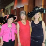 "From left, Virginia Blum, Leigh Dunnington-Jones and Cindy Klee wear vintage and designer hats at the ""Hats Off"" luncheon May 8 at the IMA. (Staff photo by Tonya Burton)"