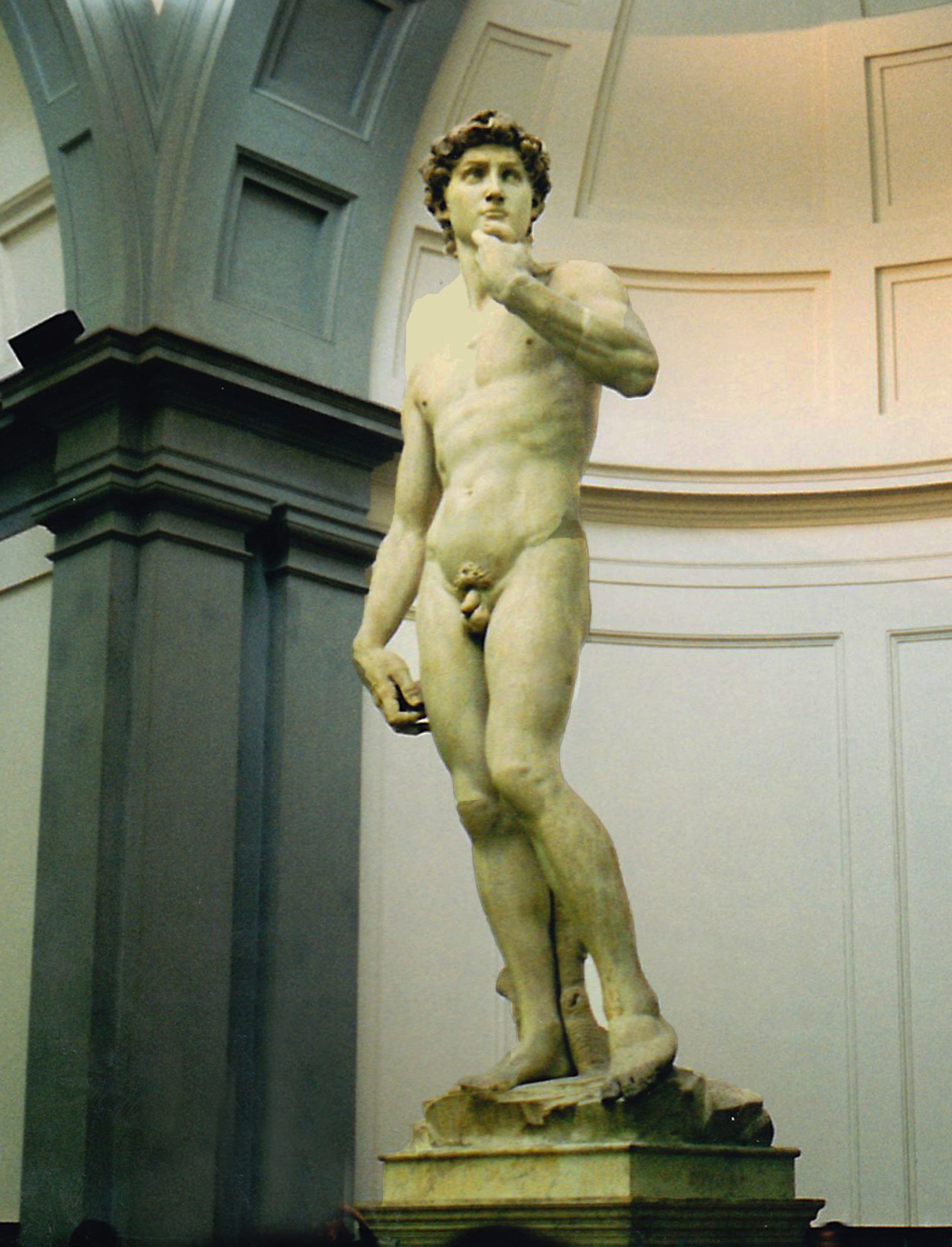 Michelangelo's David in Florence's Accademia (Photo by Don Knebel)