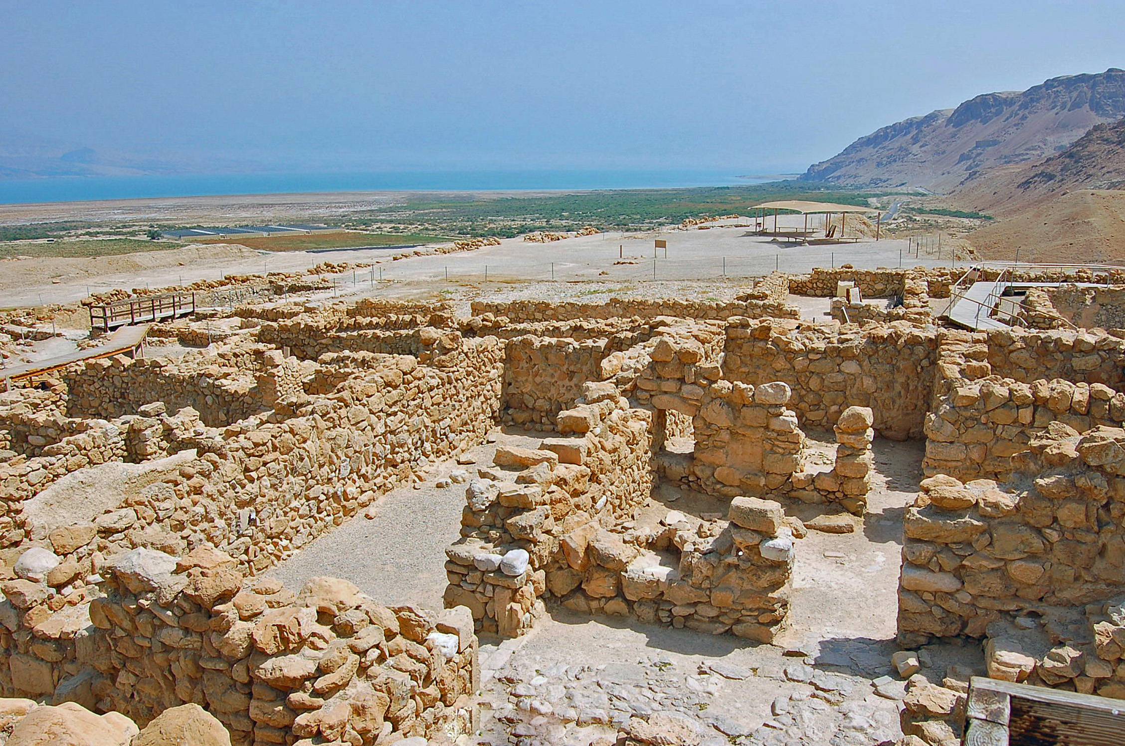 Ruins of Qumran, near the Dead Sea (Photo by Don Knebel)