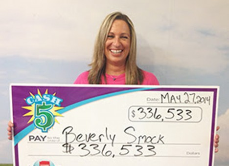 Carmel resident Beverly Smock hit the Hoosier Lottery's Cash 5 jackpot the night of May 24. (Submitted photo)