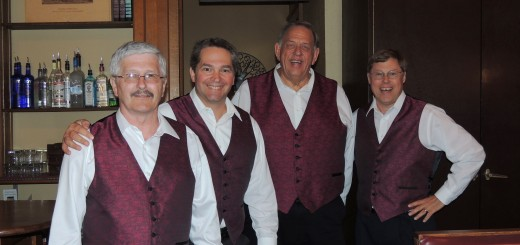 The barbershop quartet, Coalition, performed at the 100th