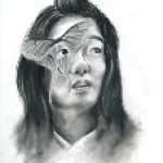 "Connie Chu made this graphite drawing titled ""Luna."""