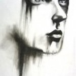 Cassandra Rennard made this untitled drawing using charcoal.
