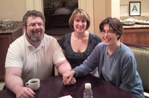 From left, Dylan Kowalewski, former book reviewer Rhonda Rettig and Kirsten Kowalewski helped to found www.monsterlibrarian.com. (Submitted photo)