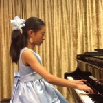 Chendi Liu, 12, said she is looking forward to playing on the Tarkington Stage. (Submitted photo)