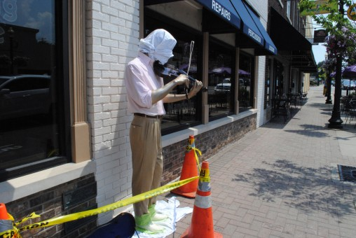 The Carmel Street Department regularly repaints the statues in the Arts & Design District. (Staff photo)