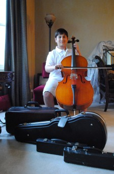 Carmel Middle School sixth-grader Josh Honig wants everyone to have the chance to play an instrument. (Staff photo)