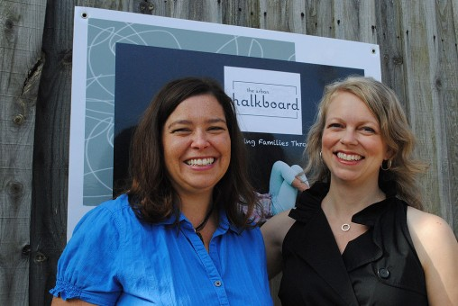 Urban Chalkboard owners Jessica Beer, left, and Tonya Bergeson-Dana hope to create a coffeehouse where an entire family can feel comfortable. (Staff photo)