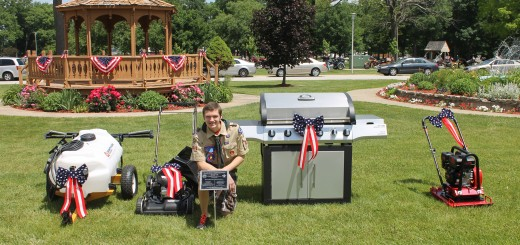 Carmel Boy Scout Brenden Stock raised money to landscape the grounds of the Indiana Veterans' Home in Lafayette. (Submitted photo)