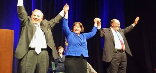 The Indiana Democratic Party recently selected its candidates for the three statewide offices in November's election. (From left) Mike Boland, state treasurer candidate; Beth White, secretary of state candidate; Mike Claytor, auditor of state candidate.